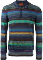Missoni striped longsleeved polo shirt