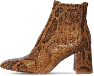 Miista 65mm Beta Snake Print Leather Ankle Boot
