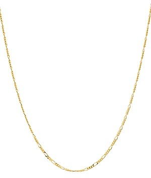 Argentovivo Mini Figaro Chain Necklace in 18K Gold-Plated Sterling Silver, 16-18
