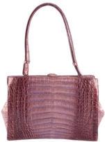 Nancy Gonzalez Iridescent Crocodile Frame Bag