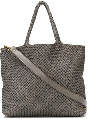 Officine Creative Woven-Effect Tote Bag
