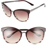 Tom Ford Women's 'Emma' 56Mm Retro Sunglasses - Beige/ Gradient Smoke