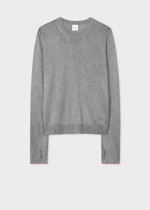 Women's Light Grey Glitter Sweater