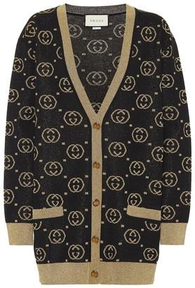 Gucci Wool-blend GG intarsia cardigan