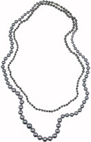 Rosantica Arianna hematite and river pearl necklace
