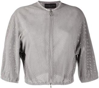 Fabiana Filippi Perforated Cropped Jacket