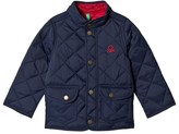 Benetton Navy Quilted Barn Logo Jacket