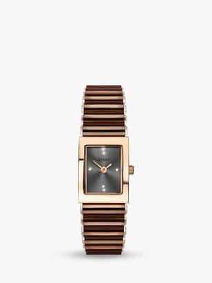Sekonda 2914 Women's Seksy Swarovski Crystal Bracelet Strap Watch, Brown/Grey