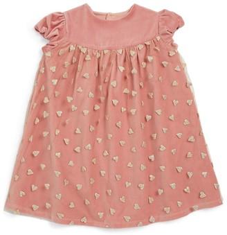 Bonton Pom-Pom Sleeveless Dress (4-10 Years)