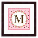 "Bed Bath & Beyond Monogram Rose Initial ""M"" Wall Art"