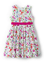 Classic Girls Pattern Dress-Jewel Green