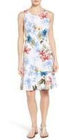 Tommy Bahama Women's Eros Botanical Flounce Hem Tank Dress