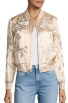 3x1 Suka Embroidered Satin Bomber Jacket