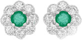 Diana M Fine Jewelry 14K 0.65 Ct. Tw. Diamond & Emerald Studs