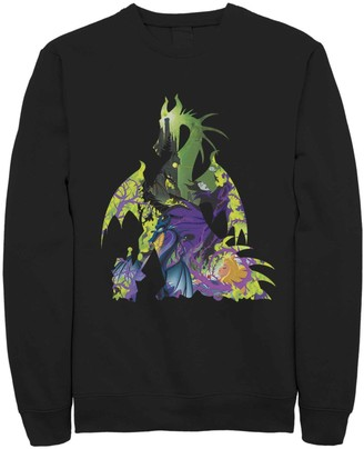 Dragon Optical Licensed Character Men's Disney Sleeping Beauty Silhouette Fleece Sweater