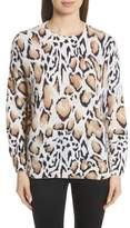 Equipment Melanie Clouded Leopard Print Cashmere Sweater