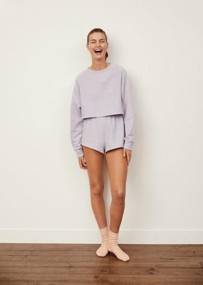 MANGO Crop sweatshirt