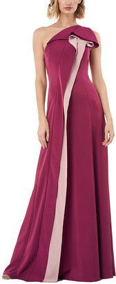 Kay Unger One Shoulder Solid Gown