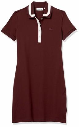 Lacoste Women's Short Sleeve Semi Fancy Pique Polo Dress