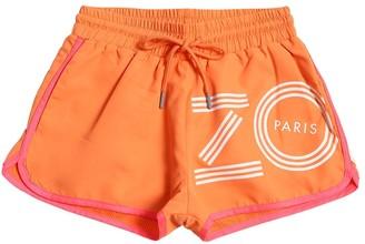 Kenzo Kids Logo Print Nylon Shorts