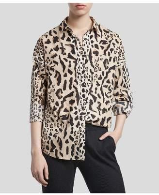 ATM Anthony Thomas Melillo Boyfriend Shirt - Camel/ Black Leopard