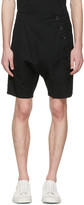 Nude:mm Black Side Button Shorts