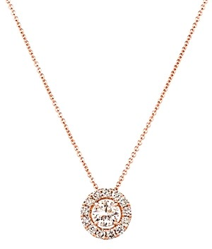 Bloomingdale's Diamond Halo Pendant Necklace in 14K Rose Gold, 0.78 ct. tw. - 100% Exclusive