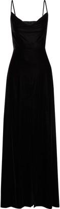 Rachel Zoe Felicitti Draped Stretch-velvet Gown