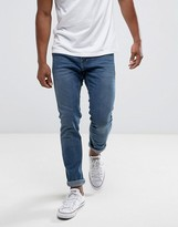 Hollister Jeans Skinny Fit Stretch In Mid Wash