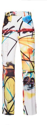 Off-White Futura Spray Paint Print Pants Multicolor
