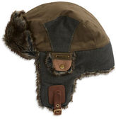Crown Cap Faux Fur-Trimmed Tapper Hat