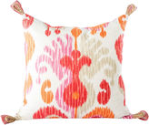 One Kings Lane Vintage Ikat Pillow w/ Solid Back