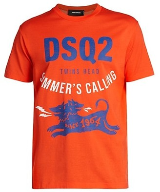 DSQUARED2 Logo Summer Graphic T-Shirt