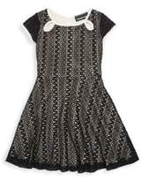 Un Deux Trois Little Girl's & Girl's Keyhole Lace Dress
