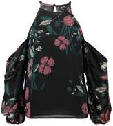 Bardot POPPY FLORAL Long sleeved top black