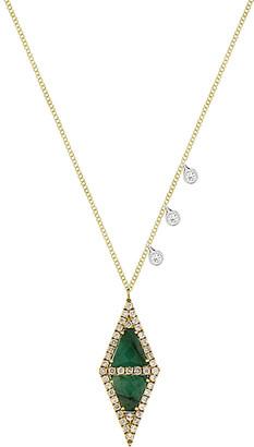 Meira T 14K Two-Tone 1.62 Ct. Tw. Diamond & Emerald Necklace
