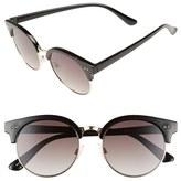 BP Women's 55Mm Round Sunglasses - Black/ Gold