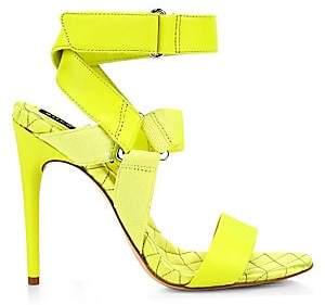 d2a23d8785b9 Alice + Olivia Women s Talene Strappy Neon Stiletto Sandals