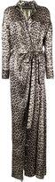 Alexandre Vauthier draped centre slit evening gown - women - Silk/Lurex - 38