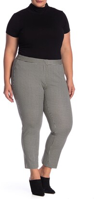 Amanda & Chelsea Houndstooth Comfort Waist Ponte Pants
