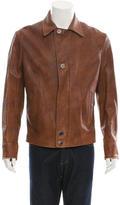 Giorgio Armani Textured Leather Jacket w/ Tags