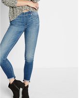 Express mid rise frayed hem cropped jean legging