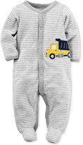 Carter's Striped Truck Footed Terry Coverall, Baby Boys