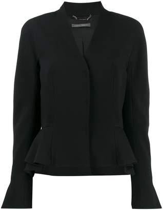 Alberta Ferretti fitted peplum jacket