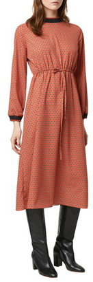 French Connection Caprice Drape Long Sleeve Midi Dress