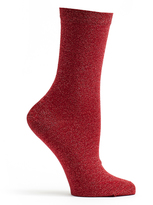 Ozone Red Lurex Socks