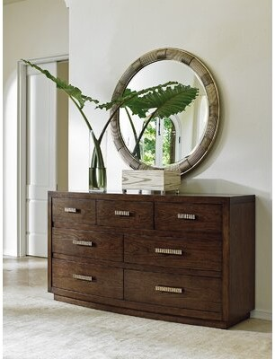 Lexington Laurel Canyon 7 Drawer Dresser with Mirror