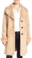 Belle by Badgley Mischka Badgley Mischka Faux Shearling Lined Coat