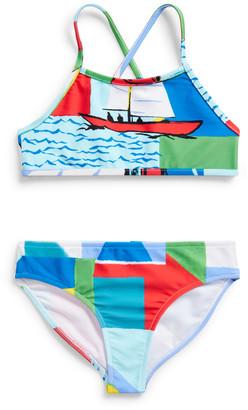 Ralph Lauren Sailboat Two-Piece Swimsuit