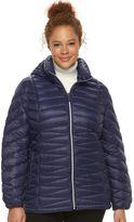 ZeroXposur Plus Size Jolie Hooded Packable Down Puffer Coat